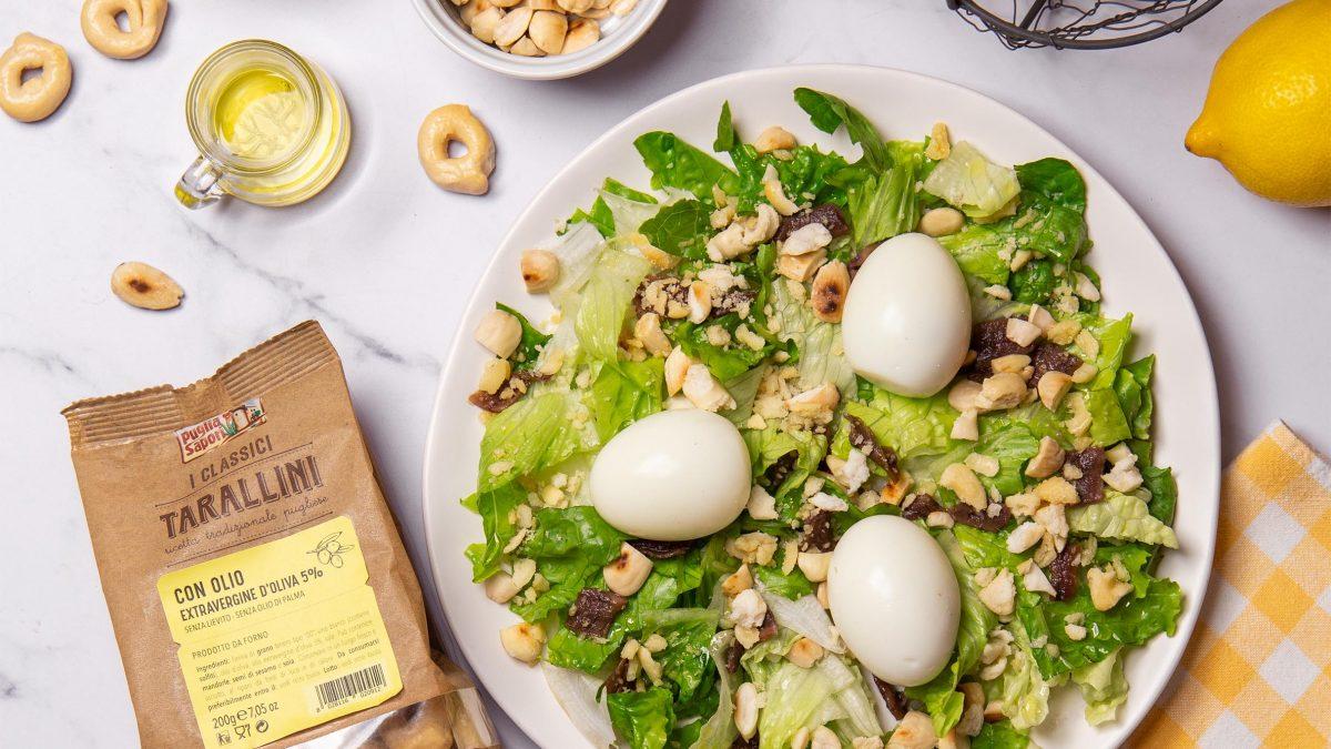 insalata uova mandorle e tarallini